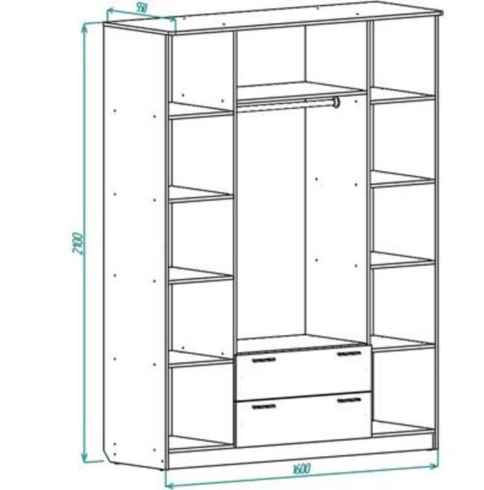 Шкаф распашной rs070415.0004 купить в Челябинске по низкой ц.